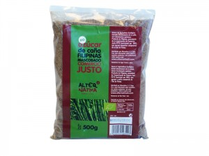 CUKIER TRZCINOWY MASCOBADO FAIR TRADE BIO 500 g - ALTERNATIVA